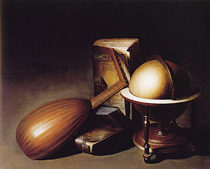 Globe, Books and Lute