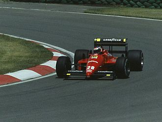 1988 Canadian Grand Prix - Gerhard Berger retired his Ferrari with electrical problems on lap 23.