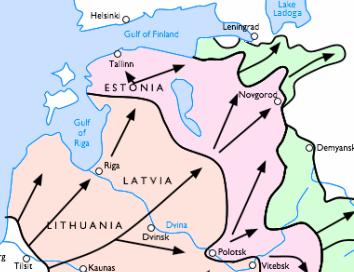 German advance into USSR