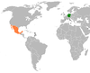 Lage von Deutschland und Mexiko