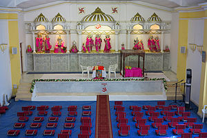 Gibraltar Hindu Temple - Temple altar with Rama at its centre