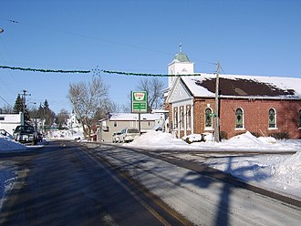 Scales Mound, Illinois - Scales Mound - Franklin Street in Winter 2008