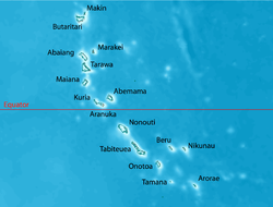 Tarawa is part of the Gilbert Islands