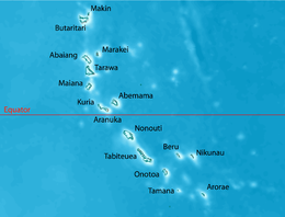 Tarawa Wikipedia - tarawa atoll map