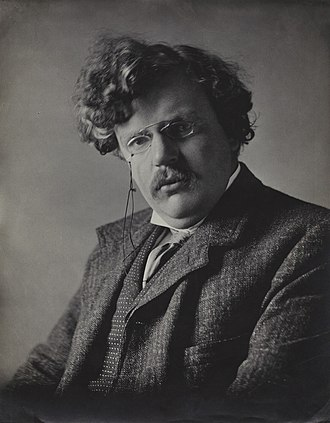 Eugenics - G. K. Chesterton, an opponent of eugenics, in 1909, by photographer Ernest Herbert Mills