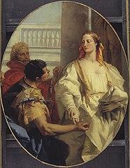 Latinus Offering his Daughter Lavinia to Aeneas in Matrimony