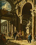 Giovanni Paolo Panini - Alexander the Great Cutting the Gordian Knot - Walters 37516.jpg