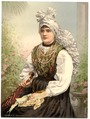Girls in native costume, Carniola, Austro-Hungary-LCCN2002710720.tif