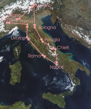 1921 Giro d'Italia - Race Route