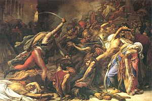 Egypt Eyalet - The Revolt of Cairo, 21 October 1798, painting by Anne-Louis Girodet (1810).