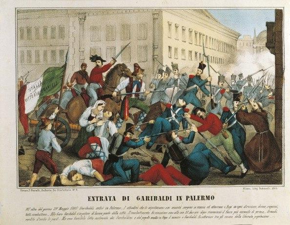 Giuseppe Garibaldi entering Palermo