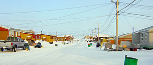 Kitikmeot Region - Street in Gjoa Haven