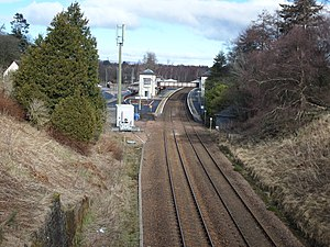 Gleneagles railway station - Image: Gleneagles station looking north from the overbridge