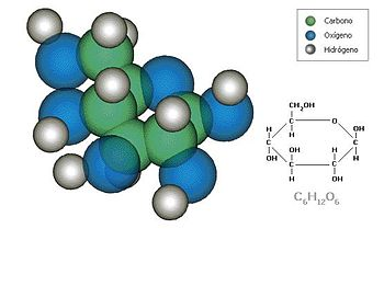 Español: molecula de glucosa
