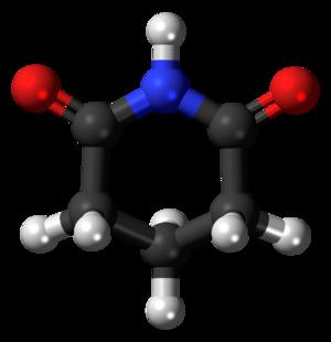 Glutarimide - Image: Glutarimide 3D balls