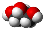Space-filling model of glycerol