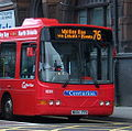 Go North East bus 8259 VDL SB120 Wright Cadet NK04 FPD Crusader livery in Newcastle 9 May 2009.jpg