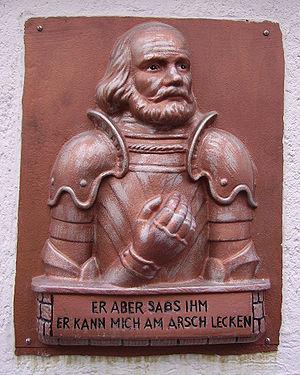 A relief of Götz von Berlichingen in Germany c...