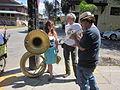 Goodchildren Easter 2012 S Roch Av Band Sousaphone Trumpet.JPG