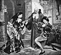 Gounod - Roméo et Juliette - Romeo and Juliet in the friar's cell - From a painting - The Victrola book of the opera.jpg