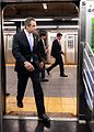 Gov. Cuomo & Chairman Prendergast Ride E Train (15173288158).jpg