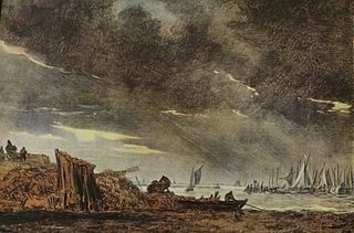 Storm over a Fishing Harbour