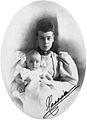 Grand Duchess Xenia Alexandrovna with her daughter Princess Irina.jpg