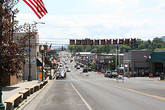 Grangeville, Idaho - Main Street in July 2008