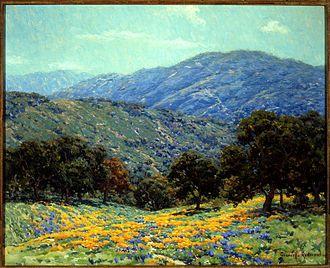 Granville Redmond - Flowers Under the Oaks (Irvine Museum)