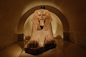 Amenemhat II - Sphinx of Amenemhat II, from Tanis. Louvre, A23