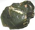 Green nephrite jade ventifact (Precambrian; Crooks Mountain, Fremont County, Wyoming, USA) 1 (15172681202).jpg
