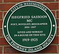 Green plaque Siegfried Sassoon.jpg
