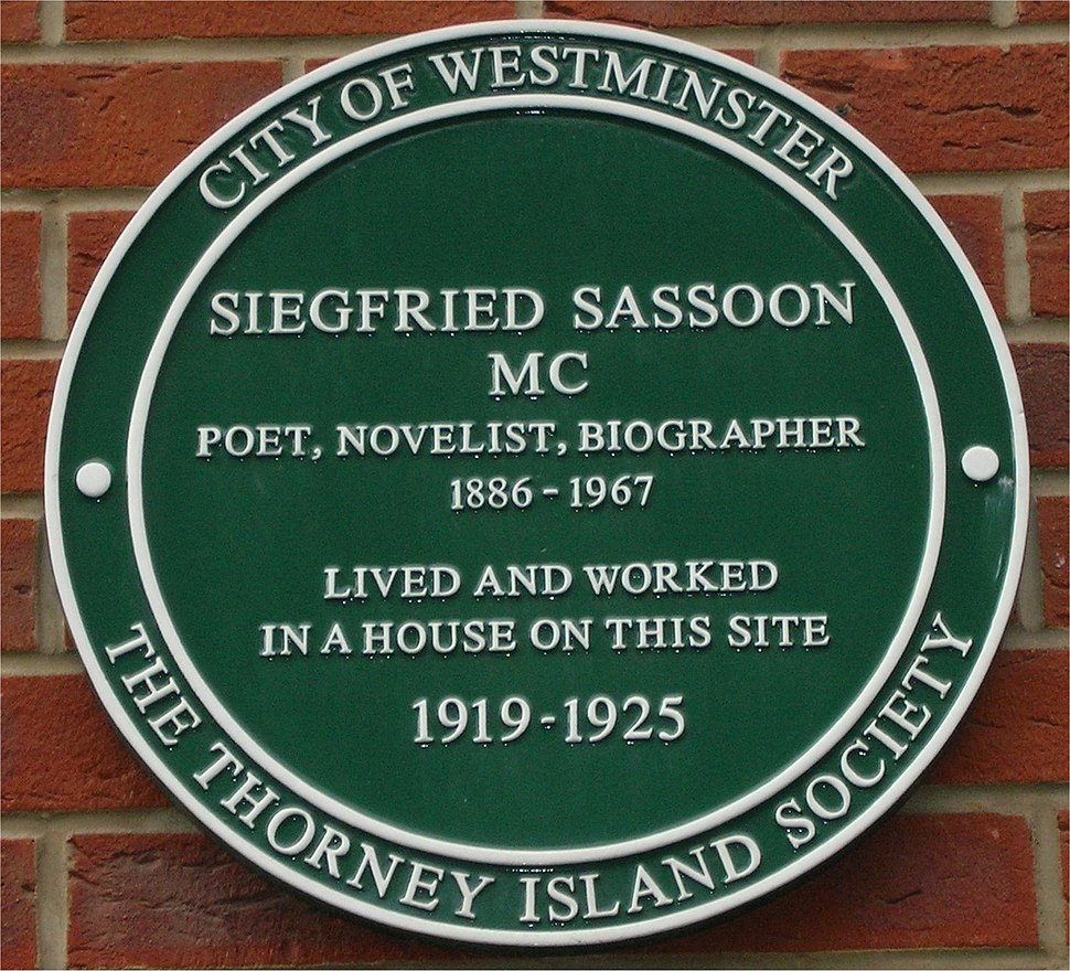 Green plaque Siegfried Sassoon