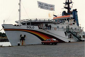 MV Solo - Image: Greenpeace ship Solo in Glasgow