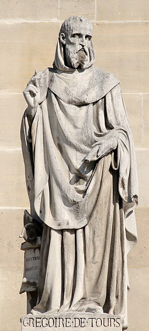 Gregory of Tours - St. Gregory of Tours, 19th century statue by Jean Marcellin, in the Louvre in Paris, France