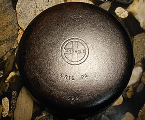 "Griswold Manufacturing - Griswold ""small logo"" cast iron skillet, manufactured between 1940 and 1957."