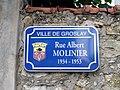 Groslay - Plaque Rue Albert-Molinier.jpg