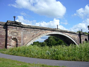 Grosvenor Bridge (Chester) - Image: Grosvenor Bridge Chester 4