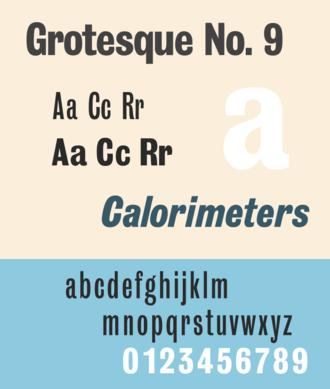 Grotesque (Stephenson Blake typefaces) - Image: Grotesque No 9