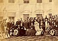 Group photograph taken at Government house, Calcutta, India. December 1869.jpg