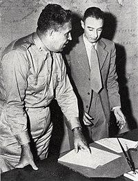 Oppenheimer and Leslie Groves, shortly after the war.