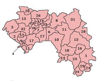 Subdivisions of Guinea - Prefectures of Guinea.