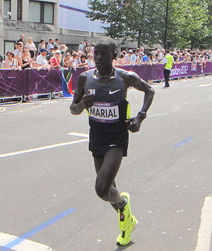 South Sudan at the 2016 Summer Olympics - Guor Marial competing in the men's marathon at the 2012 Summer Olympics.