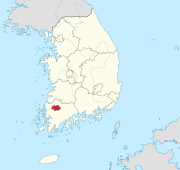 Gwangju-gwangyeoksi in South Korea.svg