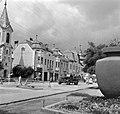 Gyergyószentmiklós 1961, Szabadság tér (Piata Libertatii), balra a református templom. Fortepan 13765.jpg