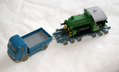 H0 model of Culemeyer heavy trailer with Mercedes front wheel drive and Köf II locomotive.png