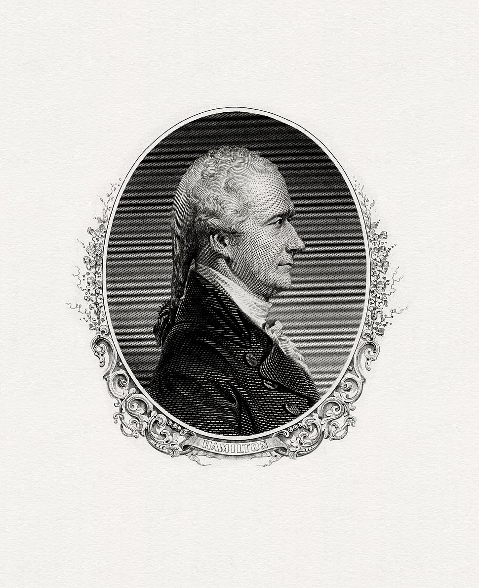 HAMILTON, Alexander-Treasury (BEP engraved portrait)