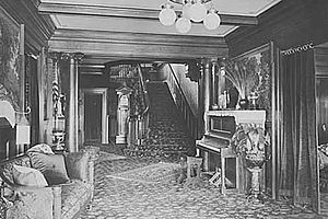 Hill-Crest - An interior space at Hill-Crest pictured in 1912