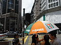 HK Causeway Bay 禮頓道 Leighton Road view Percival Street 7-11 shop Umbralla Aug-2010.JPG