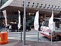 HK MK 旺角 Mong Kok Shanghai Street November 2018 SSG Fung Kin-kee, Frederick flags 01.jpg